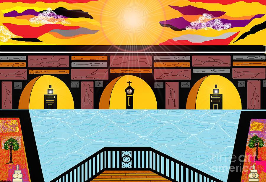 Bridge Painting - Bridge Of Hope by Lewanda Laboy