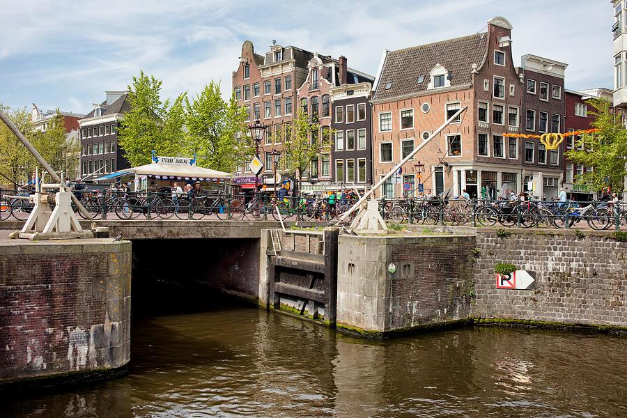 Amsterdam Photograph - Bridge On Singel Canal In Amsterdam by Artur Bogacki
