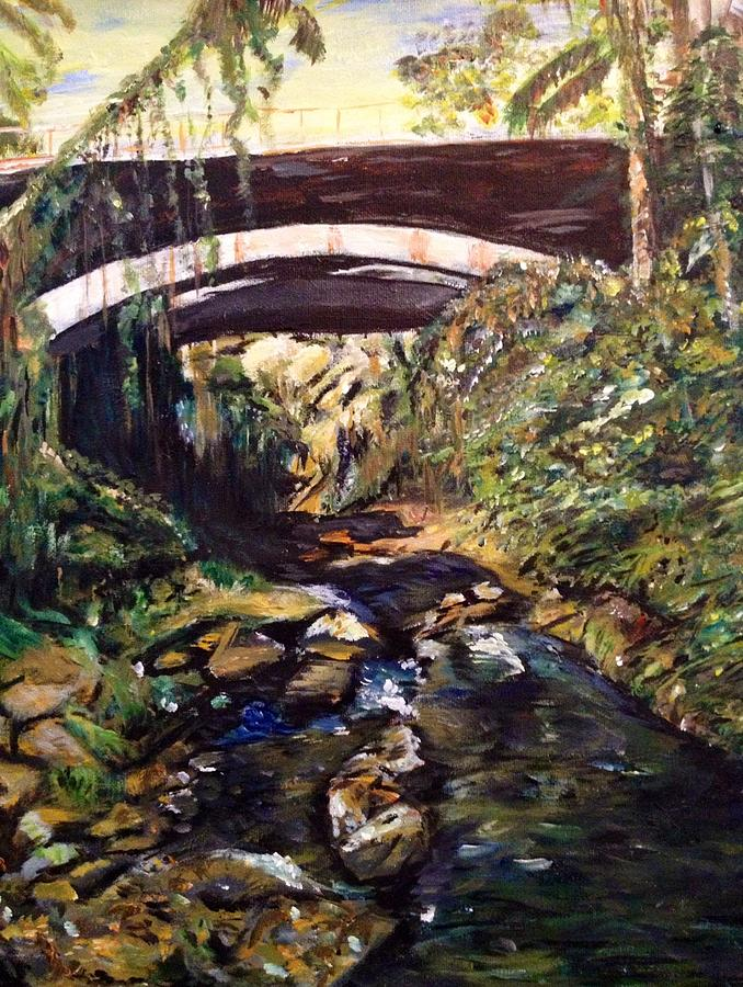 Bridge Painting - Bridge Over Calm Waters by Belinda Low
