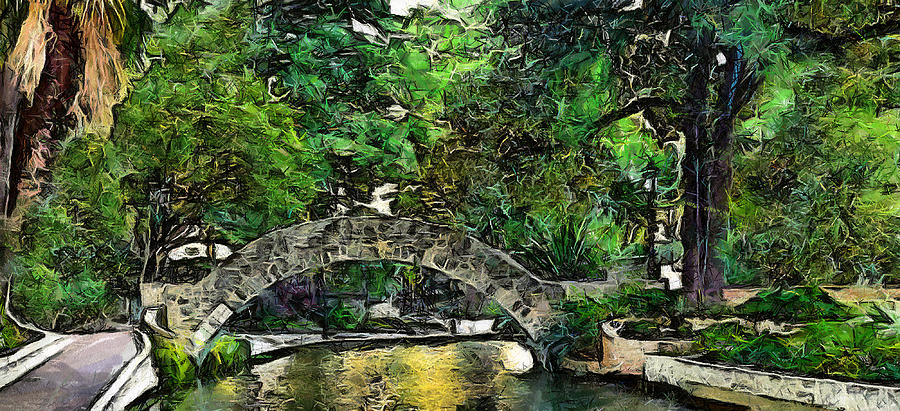 Bridge Over Digital Art by Cary Shapiro