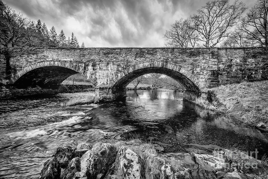 Hdr Photograph - Bridge Over Llugwy by Adrian Evans