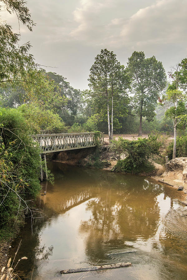 Bridge Over Siem Reap River On The Road Photograph by Cultura Exclusive/gary Latham