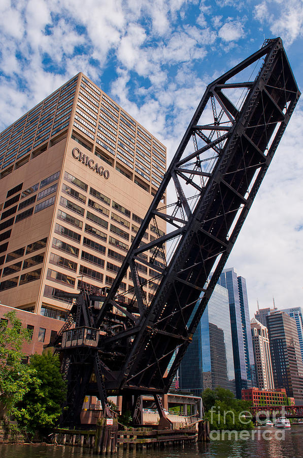 Chicago Downtown Photograph - Bridge over the Chicago River by Dejan Jovanovic