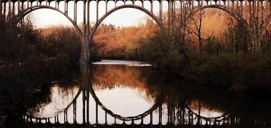 River Photograph - Bridge Over The River Cuyahoga by Patricia Januszkiewicz