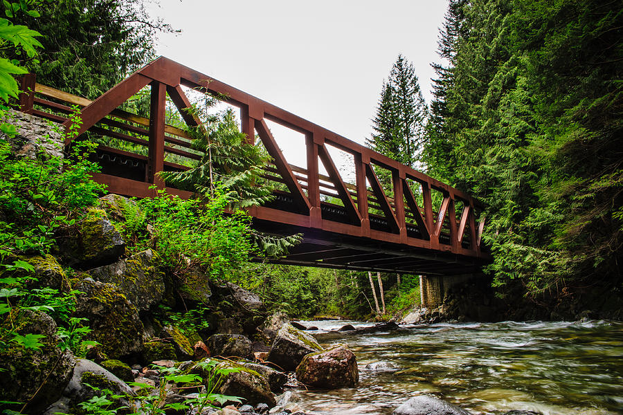 Bridge Photograph - Bridge Over The Snoqualmie River - Washington by Steve G Bisig