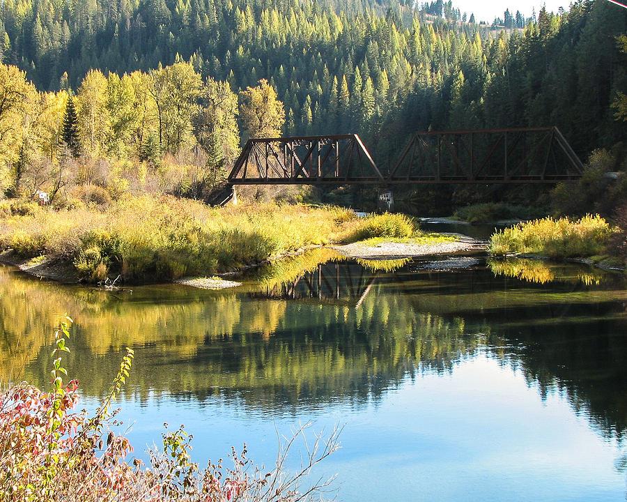 Autumn Photograph - Bridge Reflections by Curtis Stein