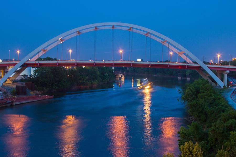 River Photograph - Bridge Reflections by Robert Hebert