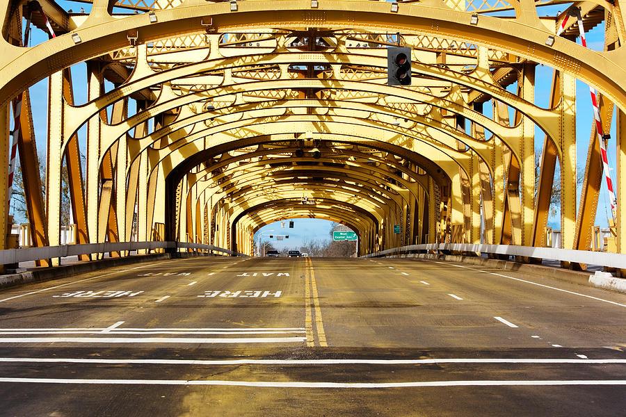 Road Photograph - Bridge Span by Jo Ann Snover