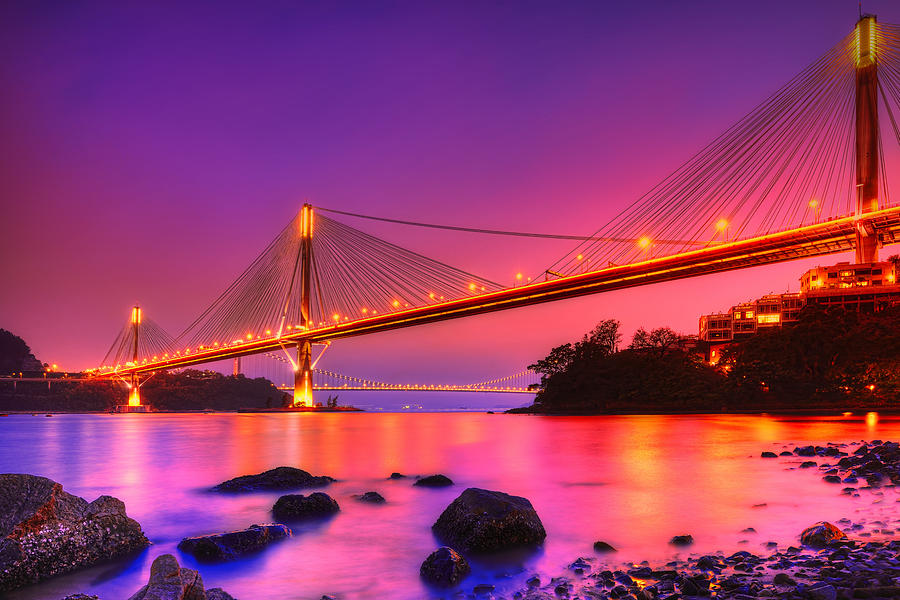 Ting Kau Bridge Photograph - Bridge To Dream by Midori Chan