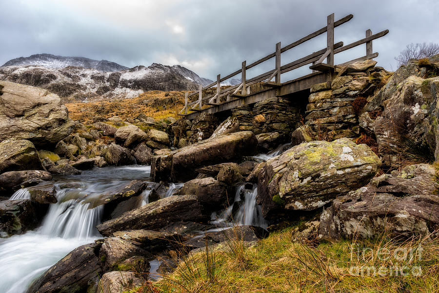 Waterfall Photograph - Bridge To Idwal by Adrian Evans