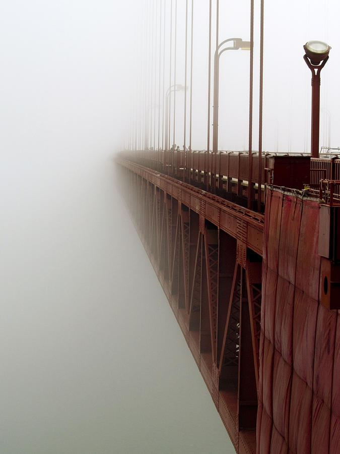 Fog Photograph - Bridge To Obscurity by Bill Gallagher