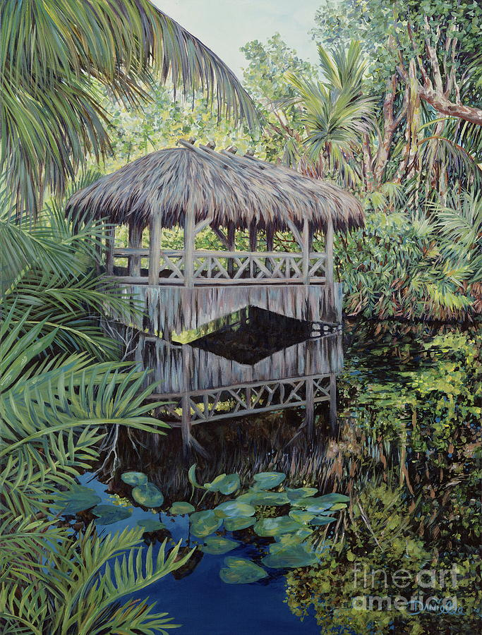 The Bonnet House Painting - Bridge To Paradise by Danielle  Perry