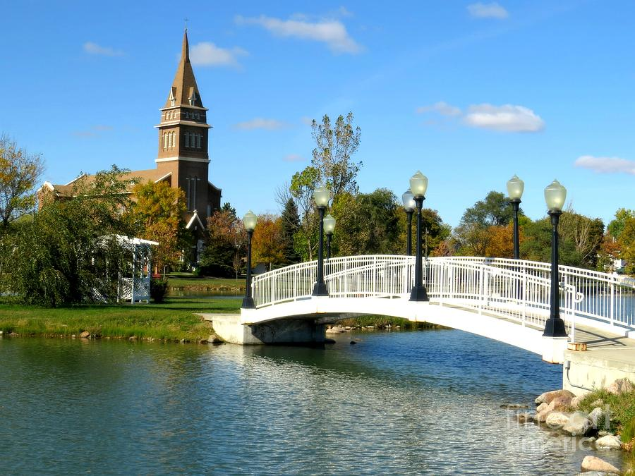 Church Photograph - Bridge To Redemption by Mary Willrodt