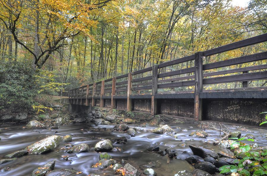 Great Smoky Mountains National Park Photograph - Bridge to Tranquility by Mary Anne Baker