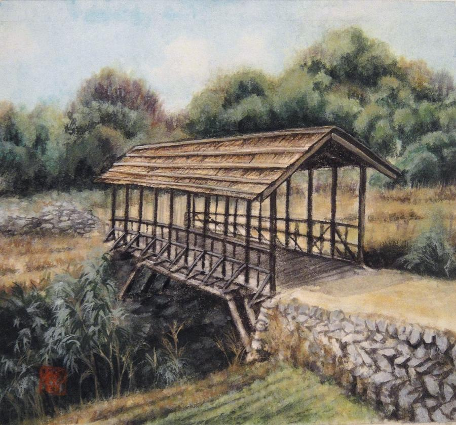 Japanese Painting - Bridge by Tomoko Koyama