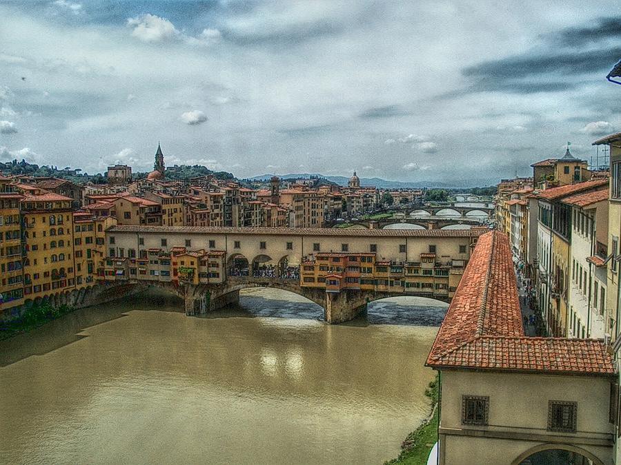 Florence Photograph - Bridges Of Florence by C H Apperson