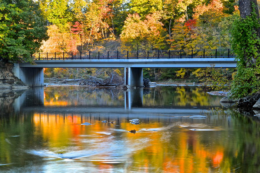 Autumn Photograph - Bridges Of Madison County by Frozen in Time Fine Art Photography