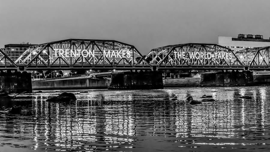Lower Trenton Bridge Photograph - Bridges Over Forever by Louis Dallara