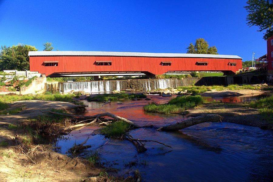 Landscape Photograph - Bridgeton Covered Bridge 1 by Marty Koch
