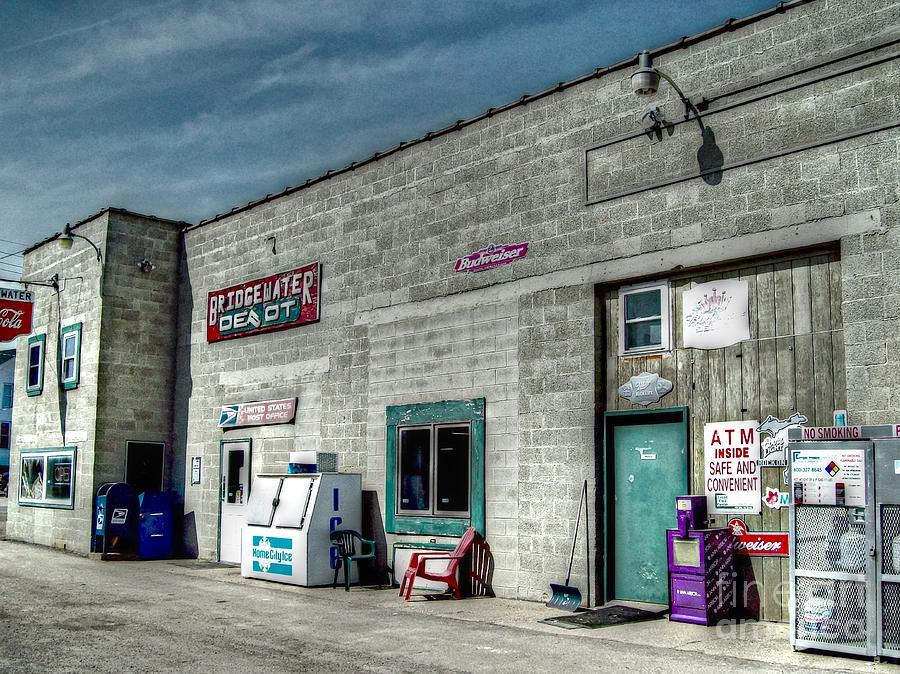Michigan Photograph - Bridgewater Depot by MJ Olsen