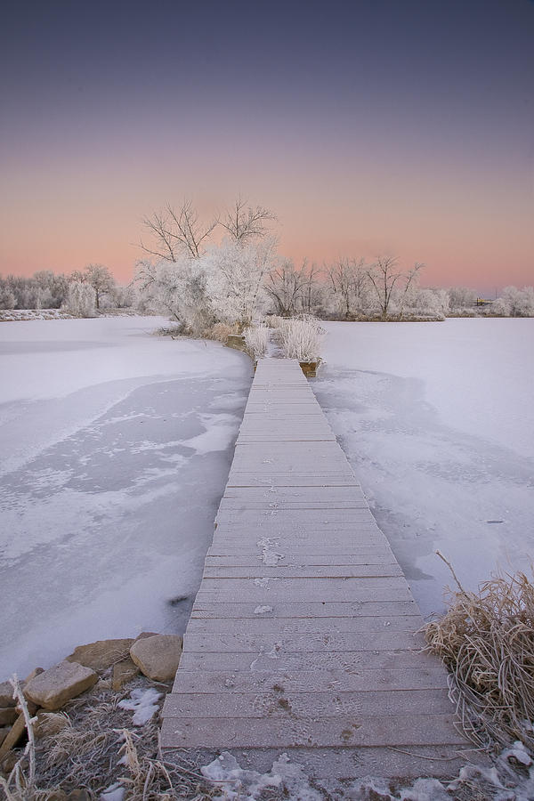 Winter Photograph - Bridging The Cold by Michael Van Beber