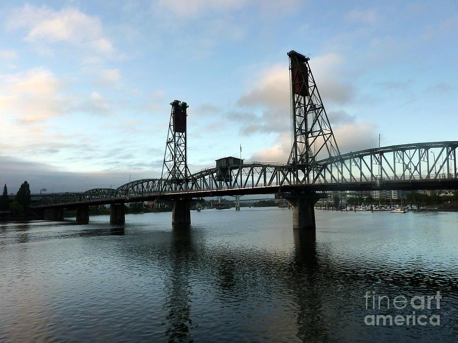 Hawthorne Bridge Photograph - Bridging The River by Susan Garren