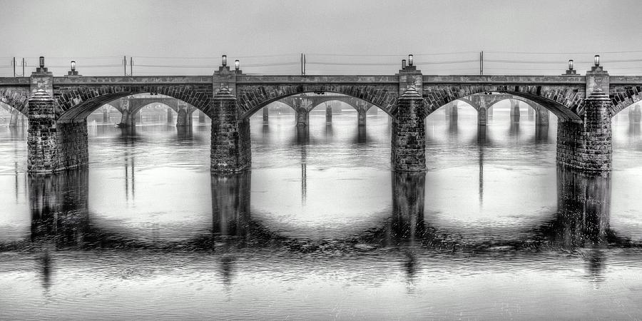 Harrisburg Pennsylvania Photograph - Bridging The Susquehanna  by JC Findley