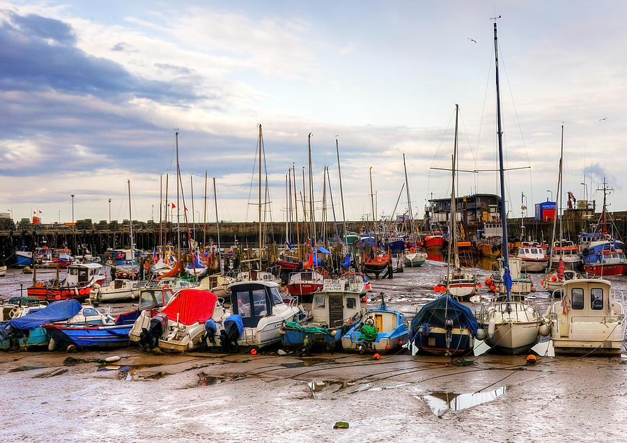 Anchored Photograph - Bridlington Harbour by Svetlana Sewell