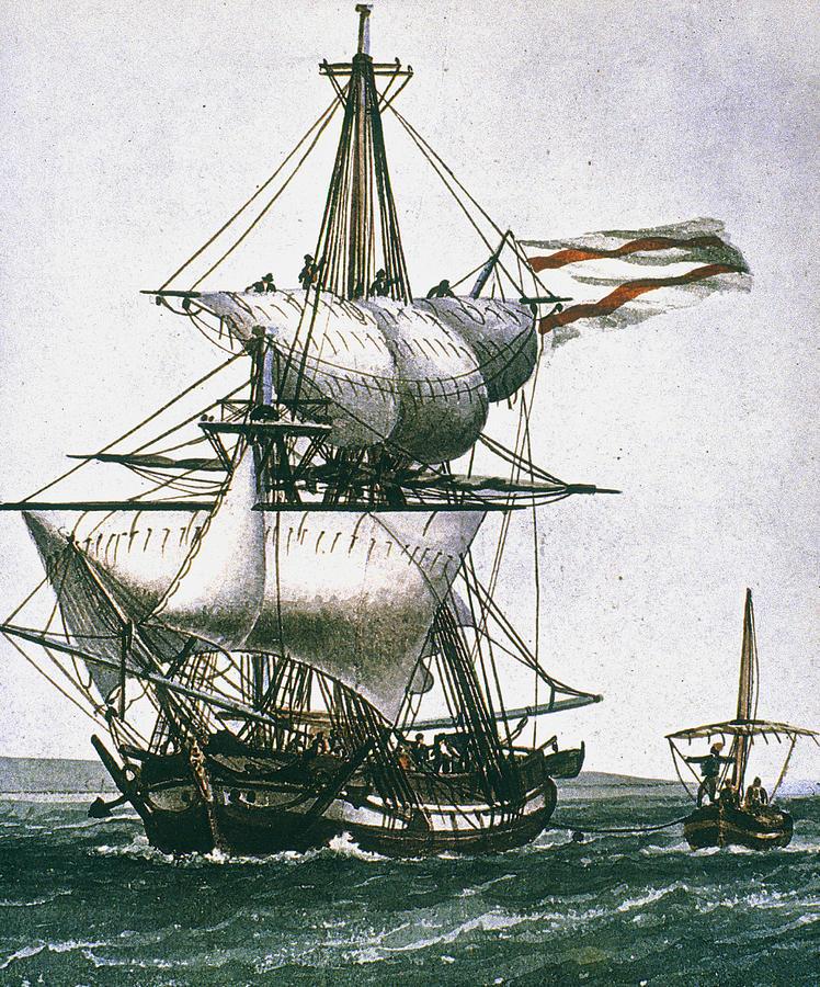 1800 Painting - Brig, C1800 by Granger