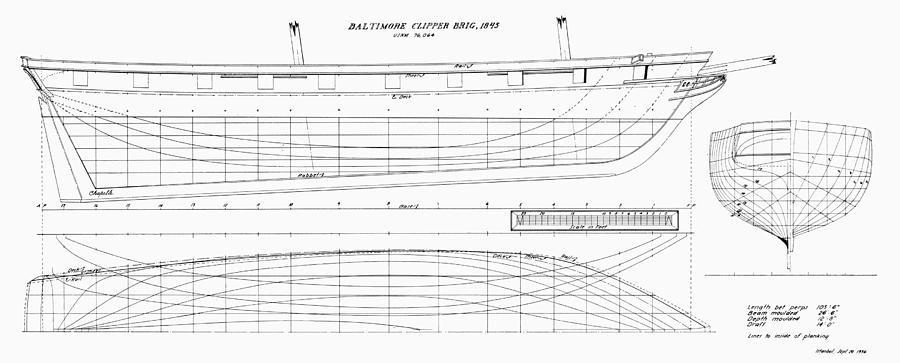 1845 photograph - brig plans, 1845 by granger