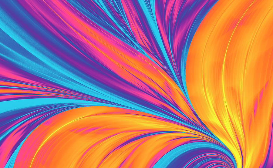 Bright Abstract Background, Flame Photograph by Oxygen