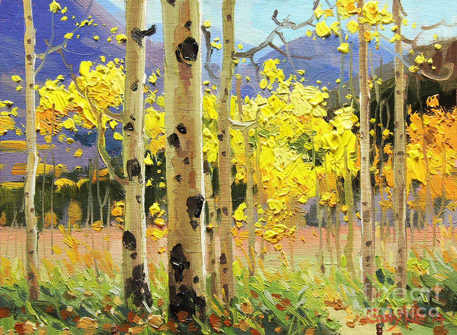 bright autumn painting by gary kim