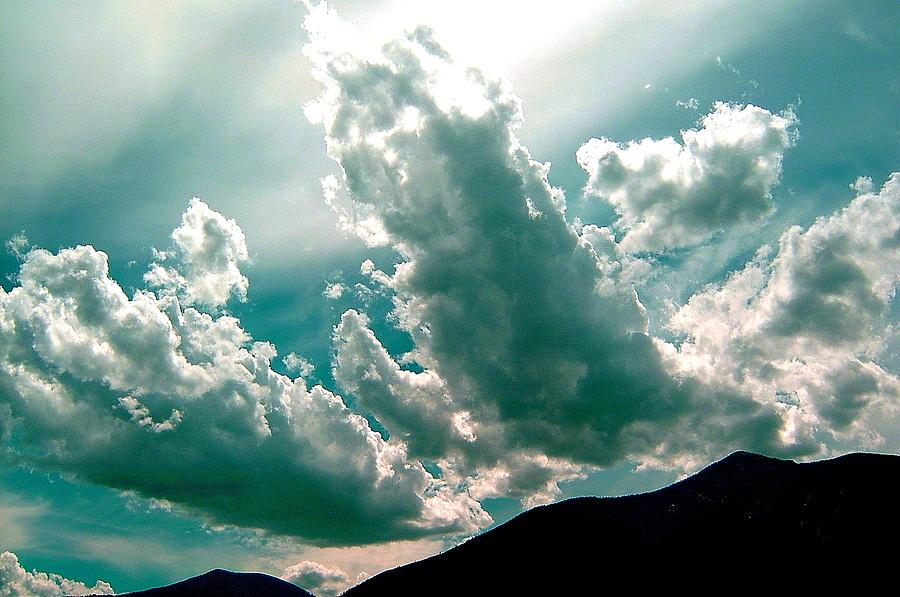 Bright Clouds Photograph - Bright Clouds by Mavis Reid Nugent