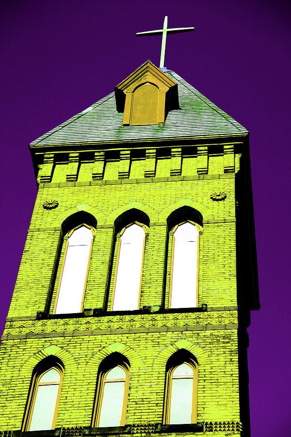 Church Photograph - Bright Cross Tower by Karol Livote