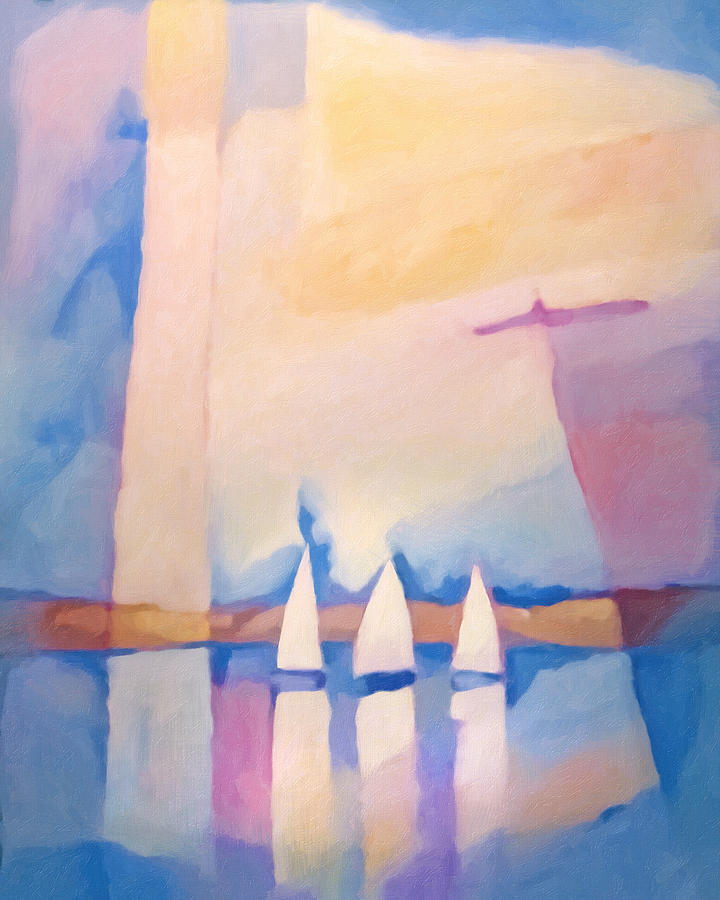 Bright Day Painting - Bright Day At Sea by Lutz Baar