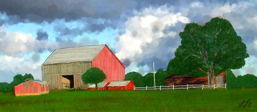 Farm Painting - Bright Day on the Farm by Bruce Nutting