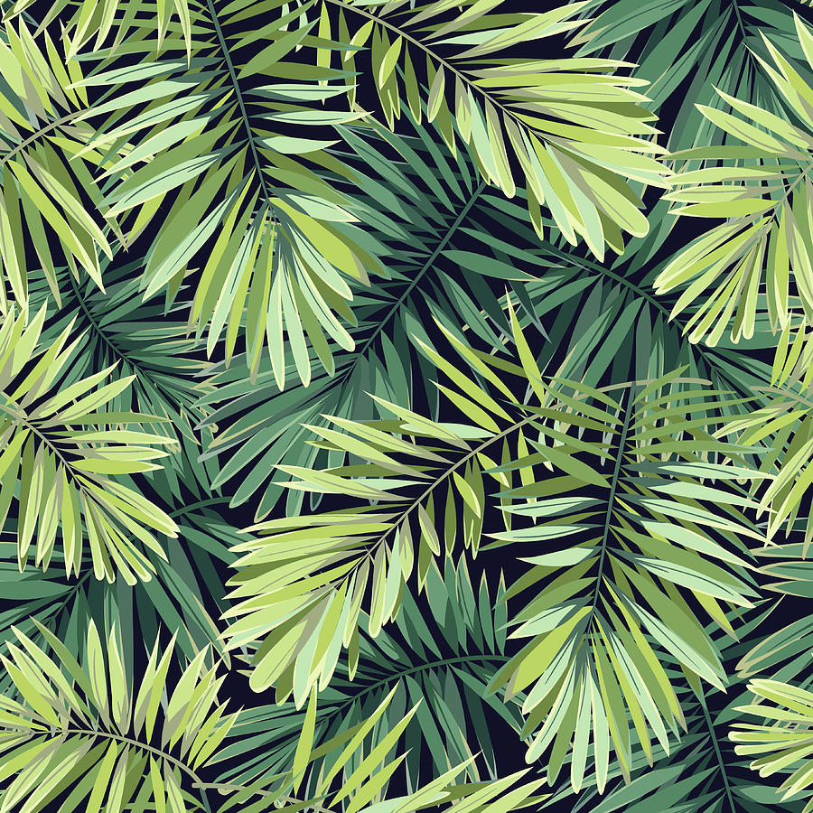 Bright Green Background With Tropical Digital Art by Msmoloko