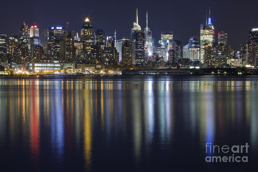 New York City Skyline Photograph - Bright Lights Big City by Marco Crupi