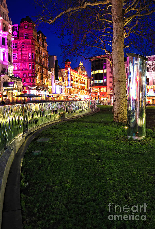 Leicester Square Photograph - Bright Lights Of London by Jasna Buncic