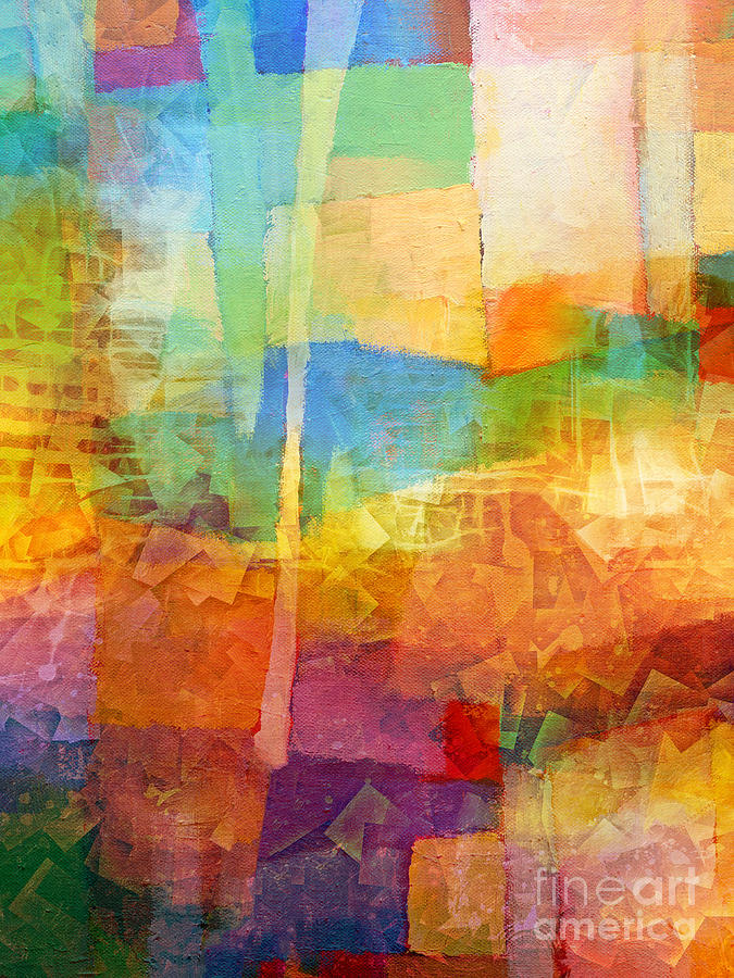 Bright Colors Painting - Bright Mood by Lutz Baar