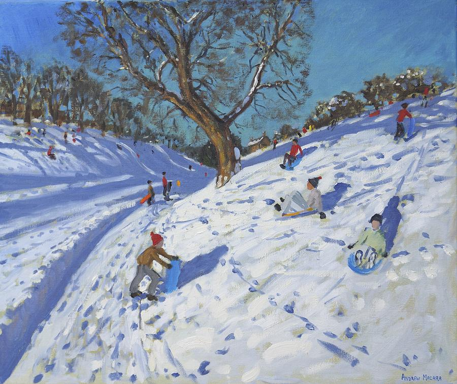 Winter Painting - Bright Morning   Chatsworth by Andrew Macara