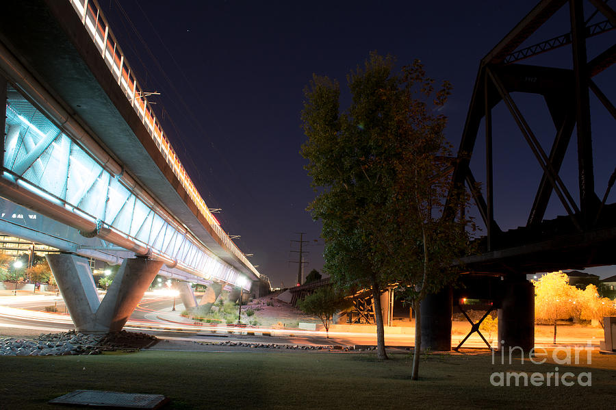 Tempe Photograph - Bright Night By The Tressles by Patty Descalzi