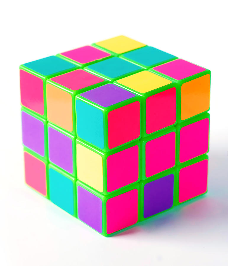 Bright Digital Art - Bright Rubix by Kenneth Feliciano