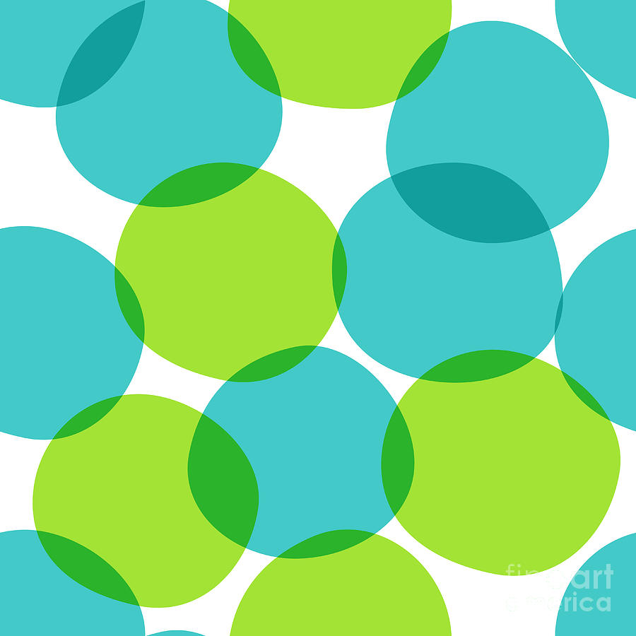 Crossover Digital Art - Bright Seamless Pattern With Circles by Yanakotina