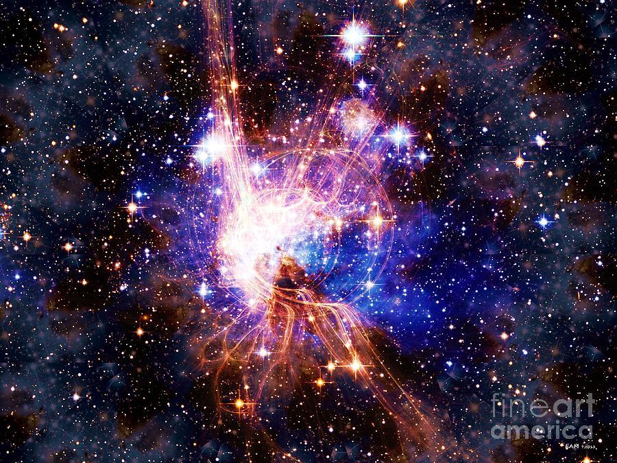 Sky Digital Art - Bright Side Of The Black Hole by Elizabeth McTaggart