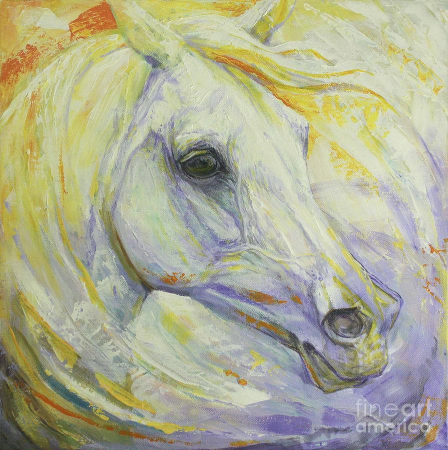 Horse Painting - Bright Spring by Silvana Gabudean Dobre