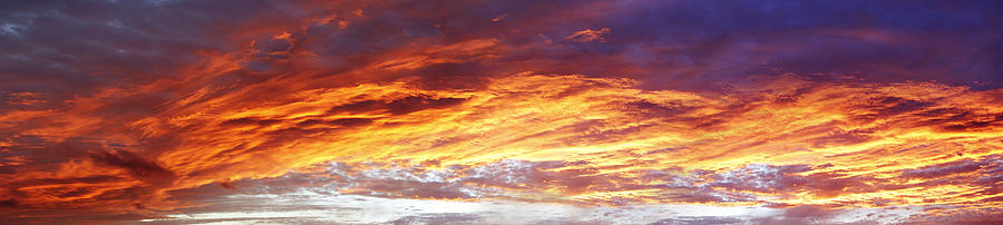 Clouds Photograph - Bright Summer Sky by Les Cunliffe