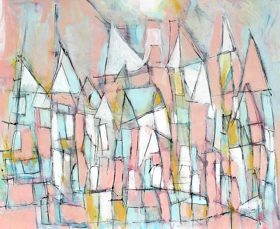 Abstract Painting Painting - Bright Sun-shiny Day by Hari Thomas