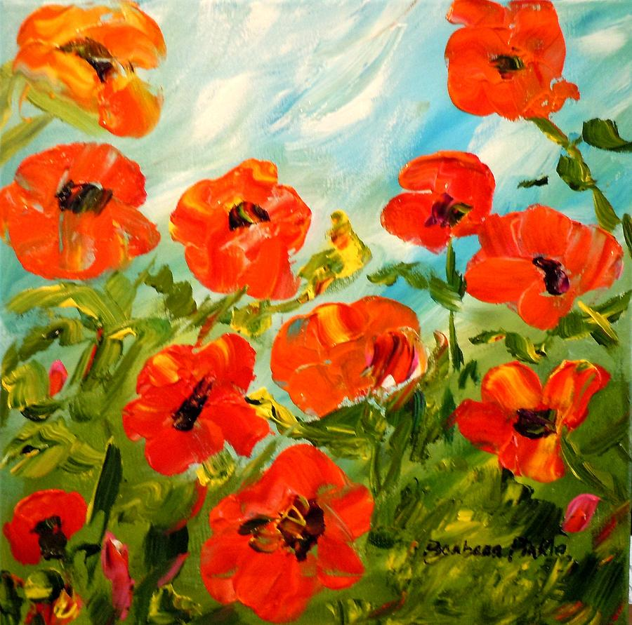 Poppies Painting - Bright Sunshiny Day by Barbara Pirkle
