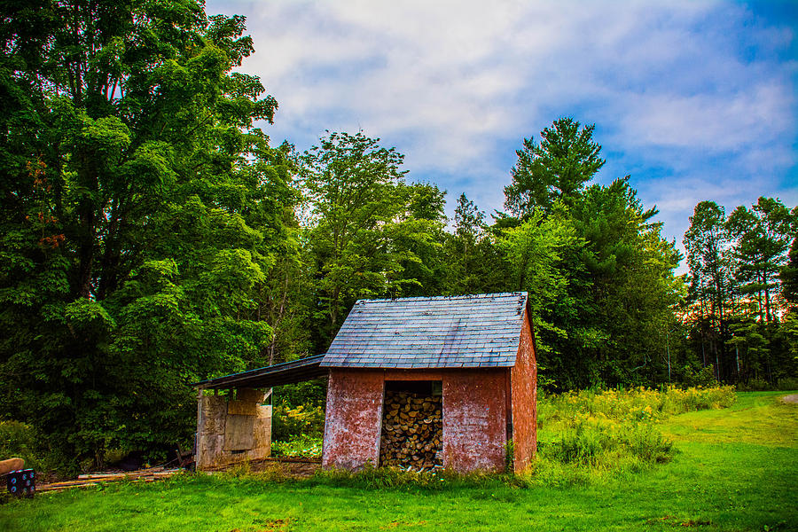 Wood Shed Photograph - Bright Wood Shed by Jason Brow